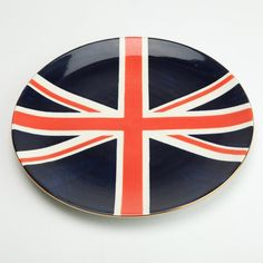 Union Jack Plate from the Jill Rosenwald event at Joss and Main