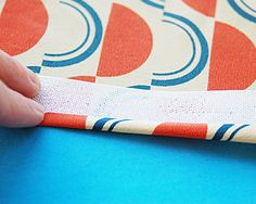 Here's an easy way to get a narrow hem on slippery or sheer fabrics using Ban-Rol.