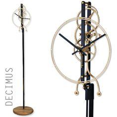 Wooden Gear Clock, Wooden Gears, Wood Clocks, Wall Clock Kits, Mechanical Clock, Art Sites, Sculpture, Lamp Design, Woodworking Plans