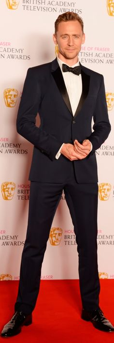 "Burberry: ""British actor Tom Hiddleston wearing Burberry tailoring to celebrate the BAFTATV Awards in London last night"""