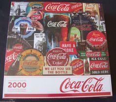 Coke Jigsaw Puzzle Coca Cola 2000 Interlocking Pieces New in Box FREE SHIPPING #SpringbokCocaCola