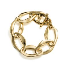 No here's a serious bracelet. Elsa Peretti® Aegean toggle bracelet in 18k gold. | Tiffany & Co.