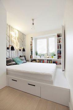 Znalezione obrazy dla zapytania szara przytulna sypialnia