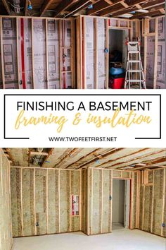 Home Renovation Basement DIY basement idea - Framing a basement wall against concrete or cinderblock is not as hard as you would think. See the process we took to finish a basement by insulating and framing the walls ourselves. Small Basement Remodel, Basement Gym, Basement Makeover, Basement Bedrooms, Basement Flooring, Basement Renovations, Basement Bathroom, Home Remodeling, Basement Ideas