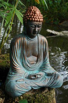 BUDDHA Garden Statue by GableGargoyles on Etsy, $149.00