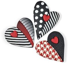 Rock Painting Patterns, Rock Painting Ideas Easy, Rock Painting Designs, Stone Crafts, Rock Crafts, Heart Painting, Stone Painting, Painted Rocks Craft, Polymer Clay Crafts
