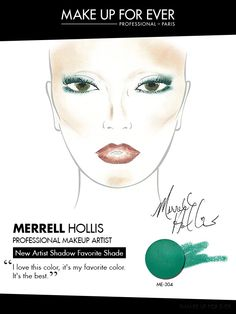 Merrell Hollis uses #ArtistShadow shade ME-304 Emerald to add a bright pop of color to your everyday eye look.