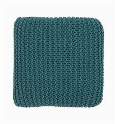 Knitted Floor Cushion petrol