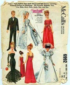 BARBIE and KEN  VINTAGE sewing pattern  McCalls by vintagelovesyou