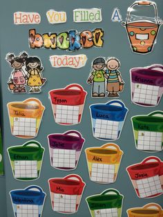 Have you filled a bucket today? Learn more about this behavior management technique in my back to school unit. Buckets from Lakeshore.