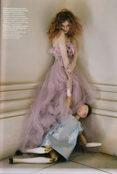 Karen Elson by Tim Walker for Vogue UK (April 2008). Elie Saab Couture dress.