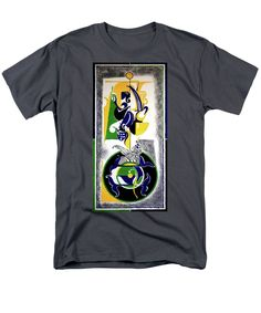 Figure Art T-Shirt featuring the painting Inspirational- I by Rupam Shah