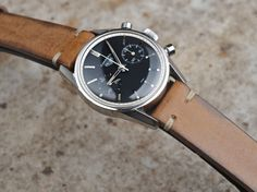 Bulang & Sons | B&S Vintage Camel Brown Leather Strap > 18 mm