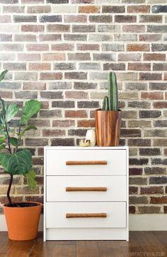 Vintage Revivals | DIY Leather Handle IKEA Rast Hack