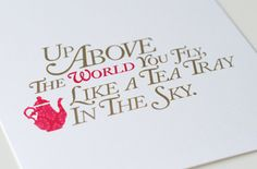 Simple and beautiful invites. Alice in Wonderland/Mad Hatter