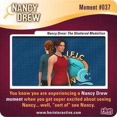 "Nancy Drew moment from The Shattered Medallion. ""Seeing"" Nancy! #NancyDrew #MED #HerInteractive"