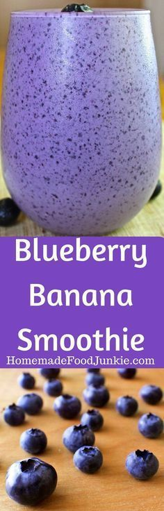 it looks pretty Blueberry Banana Smoothie is packed with antioxidants and protein! This delicious smoothie offers a wonderful blend of healthy nutrients and yummy fruits. This healthy breakfast is Low-​Sodium, Vegetarian, Dairy-​Free and Gluten-​Free! Antioxidant Smoothie, Smoothie Fruit, Blueberry Banana Smoothie, Smoothie Packs, Yummy Smoothies, Breakfast Smoothies, Smoothie Drinks, Yummy Drinks, Healthy Drinks