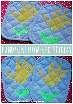 DIY Handprint Flower Potholders – Mother's Day Gift Idea - Handprint Crafts, Mother's Day Crafts, Simple Gift Ideas For Younger Kids To Make Their Mom Homemade Mothers Day Gifts, Mothers Day Gifts From Daughter, Mothers Day Crafts For Kids, Spring Crafts For Kids, Fathers Day Crafts, Mother Day Gifts, Father Daughter, Homemade Gifts, Easy Diy Mother's Day Gifts