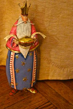 Close-up of the tallest of the three kings visiting me on this holiday (Three Kings Day). INFO @ http://www.hometalk.com/2859825/a-way-to-celebrate-three-kings-day