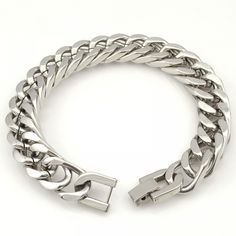 men bracelet silver Picture - More Detailed Picture about CHIMDOU Men Bracelet Silver Color / Gold Color Black Stainless Steel Bracelet & Bangle Male Accessory Hip Hop Party Rock Jewelry Picture in Chain & Link Bracelets from AnnaDeng Jewelry Silver Bracelets, Bracelets For Men, Fashion Bracelets, Link Bracelets, Sterling Silver Necklaces, Bangle Bracelets, Silver Jewelry, Silver Earrings, Bracelet Men