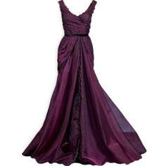Pinterest ❤ liked on Polyvore featuring dresses, gowns, long dresses, vestidos, purple gown, purple ball gowns, purple dress and purple evening gowns