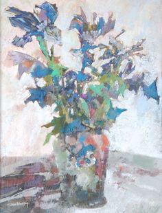 John Blockley (20th century) Irises Pastel