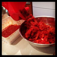 Passata production in full swing loving the Tomato Press #filthygoodfood