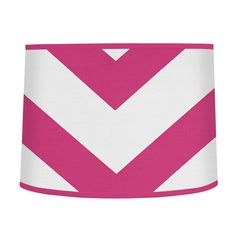 Sweet Jojo Designs Pink and White Chevron Lamp Shade