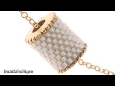 How to Cover a Channel Bead Core With Bead Weaving - YouTube