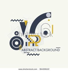 Universal geometry background in minimal, primitive style. Simple shapes for your design, typographic cover, advertisement, printing, poster and web design