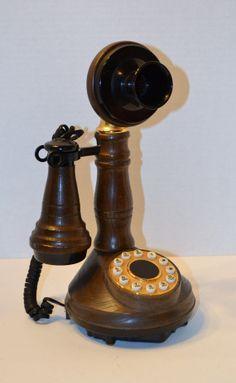 Vintage Candlestick Telephone ATC Vintage Phone by PanchosPorch