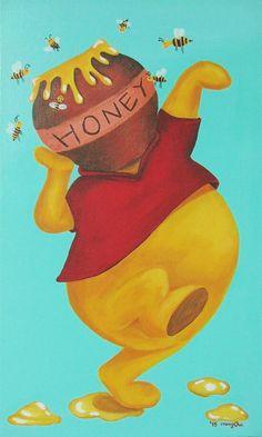 "Im painting animation series!- ""Symbol of animaion""  4th - Winnie the Pooh !! Plz look forward to other painting! :)  #몽차 #푸우 #mongcha #animation #disney #poohbear #pooh #winniethepooh  #acrylic #illustration #painting"