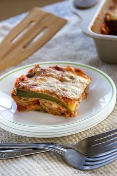 Zucchini takes center stage in this adaptation off of Eggplant Parmesan. Slices of zucchini are crusted with breadcrumbs, then layered with marinara and mozzarella, making a comforting and delicious vegetarian main dish.