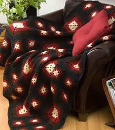 Love how warm and cozy this afghan looks! #DIY #joannhandmade