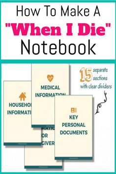 How To Organize Important Documents in an Emergency Binder or Household Notebook. How To Organize Important Documents in an Emergency Binder or Household Notebook - Decluttering Your Life The Plan, How To Plan, Family Emergency Binder, In Case Of Emergency, Emergency Preparedness Kit, Emergency Preparation, Survival, Emergency Planning, Memo Boards