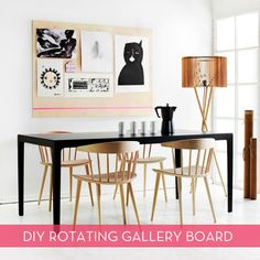 Avoid a million holes in your wall and make one of these rotating gallery boards instead! #DIY #art
