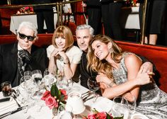 Karl Lagerfeld, Anna Wintour, Baz Luhrmann, & Giselle Bundchen-Chanel's Dinner to Celebrate the Debut of N°5 The Film Directed by Baz Luhrmann – Vogue