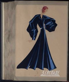 Robe Serenade, Paris 1935, copyright Patrimoine Lanvin #JeanneLanvin #Lanvin
