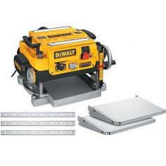 Dewalt Dw735x 13 In. Two-speed Thickness Planer With Support Tables And Extra…