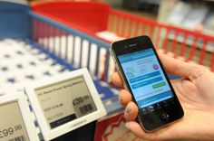 Shoppers can scan barcodes from ZBD's fully graphic electronic shelf labels in Kiddicare stores, which link to their app for further product information, customer reviews and video demonstrations. Copyright: Breeze Photographic