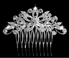 TREAZY Beautiful Teardrop Leaf Flower Bridal Crystal Hair Combs for Women Hairpins Wedding Tiara Hair Accessories Hair Jewelry Hair Jewelry, Bridal Jewelry, Wedding Hair Pins, Wedding Bride, Party Wedding, Wedding Stuff, Wedding Hair Accessories, Jewelry Accessories, Jewelry Sets