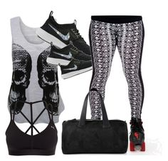 """Health Goth!"" by chloe-hoodlumfang on Polyvore featuring WearAll, Puma and Alexander McQueen"
