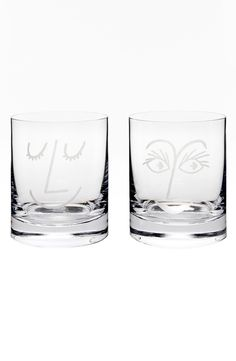 Clear Two Of A Kind Old Fashioned Glasses By Kate Spade
