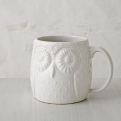 Owl Mug, West Elm - Have it, Love it.
