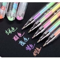 Cute Kawaii Watercolor Gel Pen Water Chalk Pen for Black Board Scrapbooking Photo Album Decoration Free shipping 222