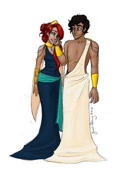 Greek God and Goddess: Zeus and Hera by JadeAriel.deviantart.com on @deviantART