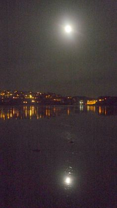Moonlit Polzeath beach