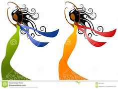 african american women with Afros clip art | Stock Photos: African American Women Beauty