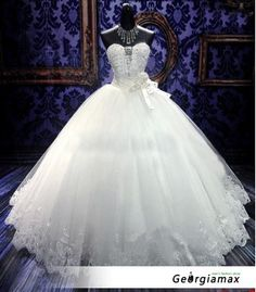19cb5e5b834 на заказ новые без бретелек свадебные платья свадебное платье с бальное  платье роскошные бисером кристаллы развертки
