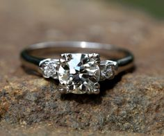 Certified PLATINUM Diamond Engagement Ring  Old by BeautifulPetra, $6,000.00